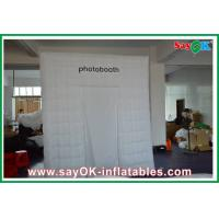 Best Advertising Square Inflatable Photobooth One Door With Oxford Cloth wholesale