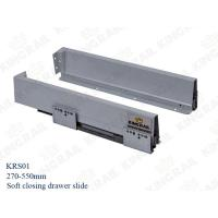 China NEW Double Wall Soft Close 450mm Drawer Slide Runner Channel KRS01 on sale