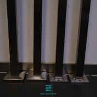 China Satin / Mirror Finish Metal Railing Posts  For  Stairs / Terrace / Balustrades on sale