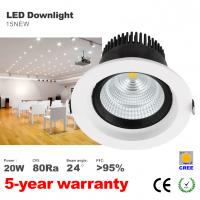 Best 20W LED Downlight CREE COB LED Bulbs 125mm hole Recessed down light ceilling light wholesale