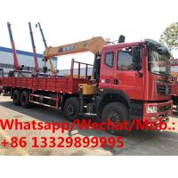 Best HOT SALE! Heavy duty dongfeng T5 8*4 LHD yuchai diesel engine 12tons-20tons telescopic crane boom mounted on cargo truck wholesale