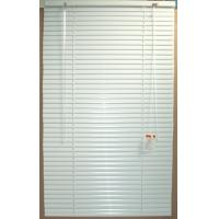 China 25mm aluminum venetian blinds for windows with steel headrail and bottomrail on sale