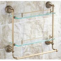 China Newly constructed Custom home clear float glass shelf brackets for keeping space unclutter on sale