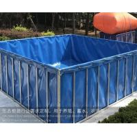 China 1000 Litres Tarpaulin Fish Tank ,  Foldable Fish Tank For Aquaculture Farms MOQ 1 Piece on sale