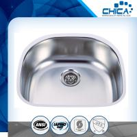 Best Pressed kitchen sinks with single bowl undermount kitchen sink with SUS304 and silver color wholesale