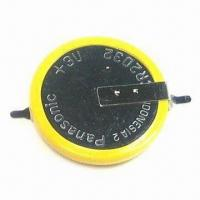 China 3V Lithium CR2032 Batteries with 220mAh Capacity on sale