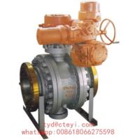 Buy cheap API 6D Side Entry Flanged Ball Valve Class 150 Trunnion Mounted With Electric Actuator product