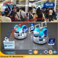 Buy cheap Amusement Park 9d Motion Ride / 9d Cinema Simulator With Virtual Reality 80pc Movies product