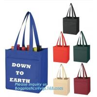 Best Big shopper eco-friend shopping non woven bags t shirt promotional cooler fabric bag with zipper, Machine Made Heat Seal wholesale