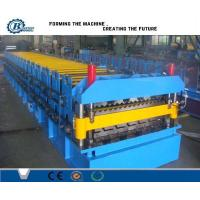 Corrugated Iron Double Layer Roll Forming Machine , Concrete Roof Tile Making Machine