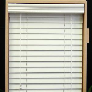 64mm pvc foamwood venetian blinds with steel high headrail and pvc foamwood bottomrail