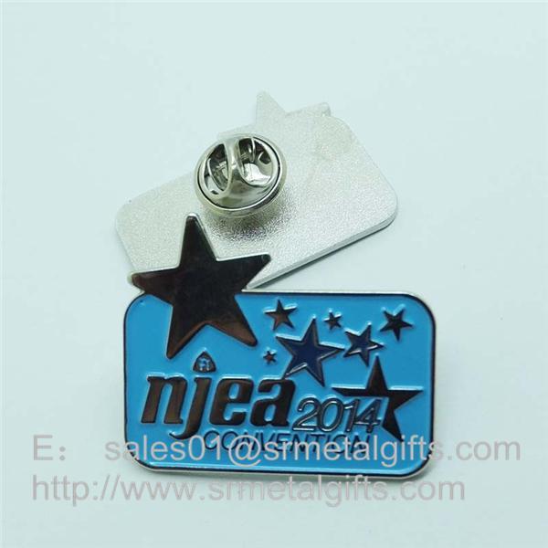 color filled metal lapel pins