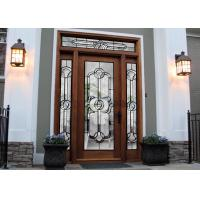 Tempered Safety Patterned Glass Panels Brilliance For Internal Doors