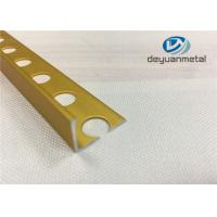 Best Bright Gold  Aluminium Floor Profile  L With Hole Punched wholesale