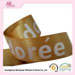 Best Single face Satin Ribbon With Custom Logo , Gold custom printed award ribbons wholesale