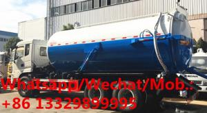China Hot Selling Dongfeng 6x4 18CBM Vacuum Sewage Suction Truck, High quality and best price vacuum tanker truck for sale on sale