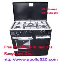 Best Gas Range Cooker Oven with 5 gas burner cooktop wholesale