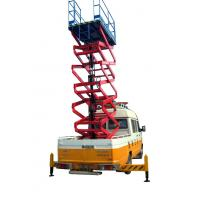 China 11 Meters Truck Mounted Scissor Lift For Work At Height Man Lift 500Kg on sale