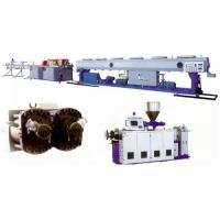 China PVC Plastic Pipe Extrusion Line , PVC Twin Pipe Machine Plastic / Extruder on sale