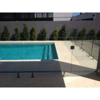 Best Swimming pool safety glass railing/fence with stainless steel spigots wholesale