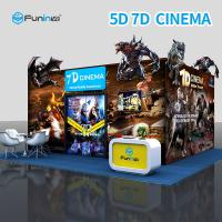 China Electric 7D 5D Cinema Simulator For Home Theater With Leg Sweep on sale