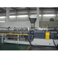 High Speed Plastic Recycling Granulator Machine Recycled PET Parallel Double Screw Extruder Machine