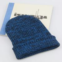Best Navy Blue Winter Women Knitted Hats and Berets 17*23cm jacquard weave Beanie Hats wholesale