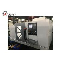 China 11kw Spindle Motor Flat Bed CNC Lathe Machine Steel Headstock Gears Included on sale