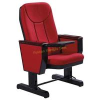 Best Movable Wooden Writing Tablet Auditorium Chairs With Caster Wheel / Theater Seating Furniture wholesale