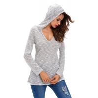 Best 100% Viscose Hooded Pullover Sweater , Jersey Knit Cute Fall Oversized Sweaters wholesale