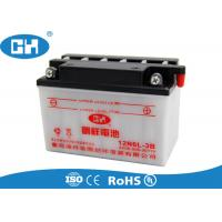China Custom 12v 6Ah Dry Charged Motorcycle Battery 145 * 72 * 97mm Acid Resistance on sale