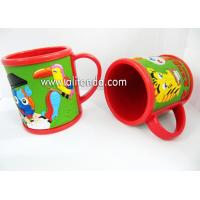 Best Eco-friendly whale sea animal image design custom soft pvc 3D embossed silicone mug for children wholesale