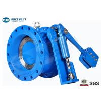 China Flanged Butterfly Valve With Counter - Weight Hydraulic Control Check PN10 / PN16 on sale