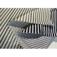 China 55GSM 290t Black And White Striped Polyester Fabric on sale