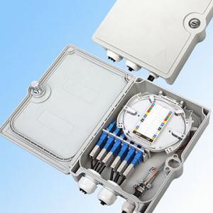 Best Outdoor Fiber Optic Termination Box 4/6/8/12/24 Core With 1x8 1x16 Optical Splitter wholesale