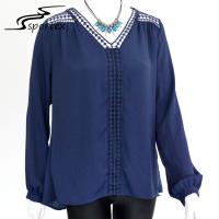 Best Long Sleeve Women's Plus Size Blouses Stylish Clothing For Spring / Summer wholesale