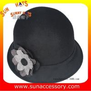 Best T2450413 Sun Accessory customized  winner  fashion 100% wool felt cloche hats, women hats and caps wholesaling wholesale