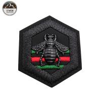 China 3D Animal Custom Stitched Patches Woven Material For Garment / Bags / Hats on sale