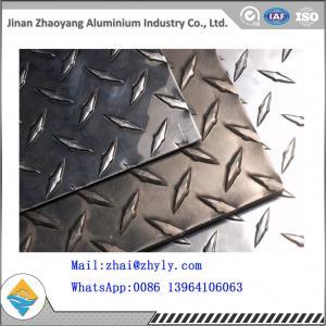 Cheap 3003 H14 Ribbed Aluminum Sheet / Aluminum Tread Plate For Refrigerator / Solar for sale