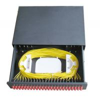 Buy cheap 48 ports Slidable type Rack Mounted terminal box ODF black cold rolling steel sheet with FC/UPC adapter product