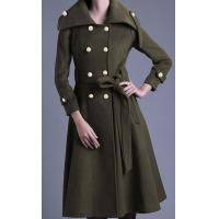 China Slim New Arrivals Wool Double Breasted women's coat for Winter on sale