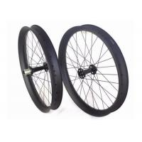 China Tri Spoke Tubeless Carbon Fat Bike Wheels Clincher Aero Roof Surface For Cycling on sale