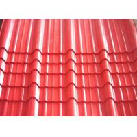 Best Galvanised Corrugated Roofing Sheets , Red Pre Painted Corrugated Steel Sheet wholesale