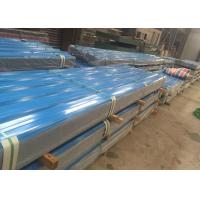 Best Reliable Color Coated Steel Roofing Sheet 30 - 120g / Sqm PE Zinc Coating wholesale