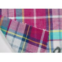 China Thin Tulle Cotton Yarn Dyed  Fabric Excellent Color Fastness With Grid Pattern on sale