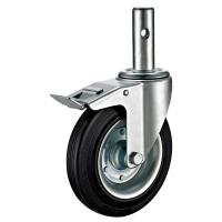 China Mobile Adjustable Scaffold Wheels , Rollerblade Scaffold Tower Casters on sale