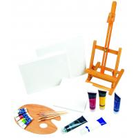 Best 21pcs Art Painting Set With Table Easel / Palette / Canvas / Brushes / Colors wholesale