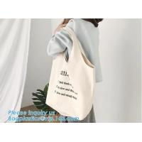 Best customized cotton canvas tote bag cotton bag promotion recycle organic cotton tote bags wholesale,Handle Canvas Bag Tote wholesale