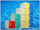 Best Clover Keyless Plastic Gym Lockers 5 Tier 1810 × 310 × 460mm Red Storage Lockers wholesale