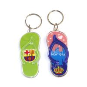 Best Fashion design 3d mini blue shoe shaped acrylic keychain with custom logo for promotional wholesale